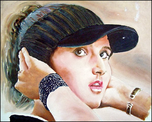 sania_mirza_portrait_by_colourblindchameleon